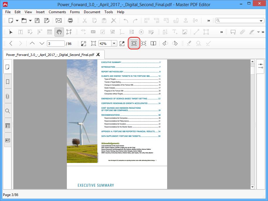View PDF modes