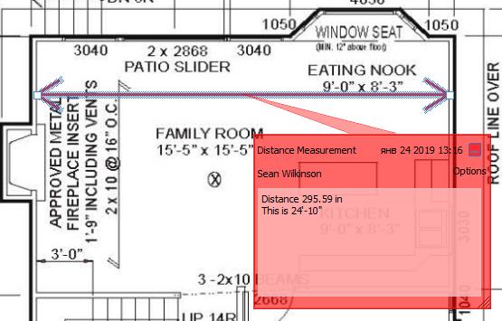 Measurement tools  PDF Files Commenting