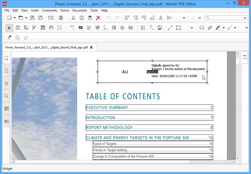 Validating PDF Digital Signature