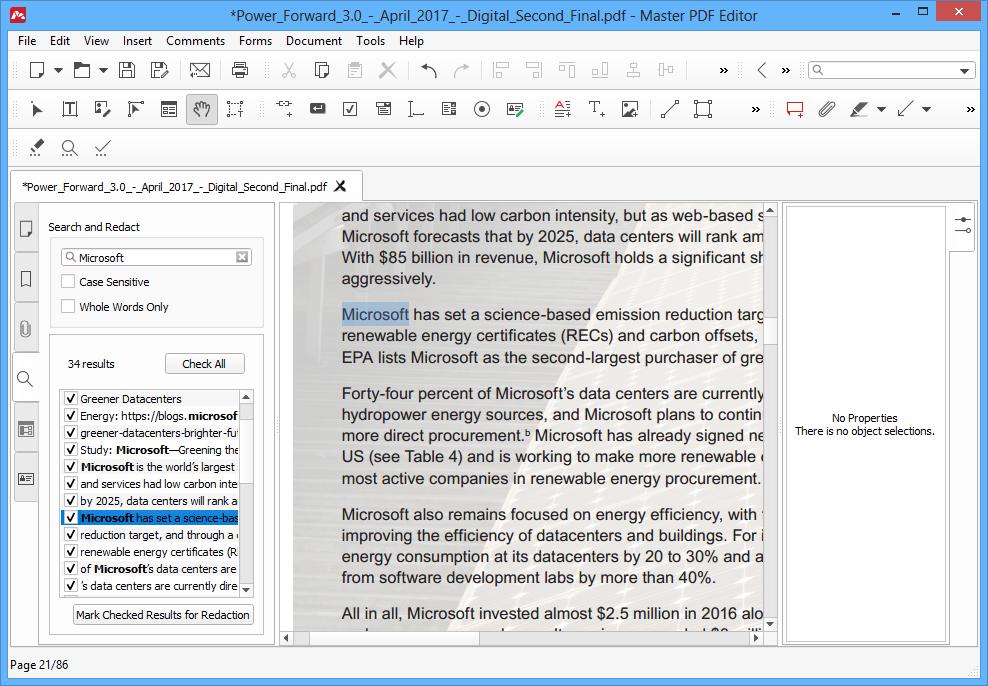 Redacting PDF by Certain Keywords