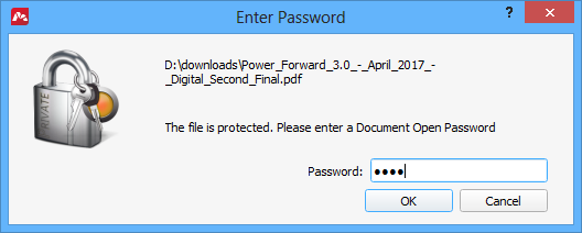 Adding a password to open the document