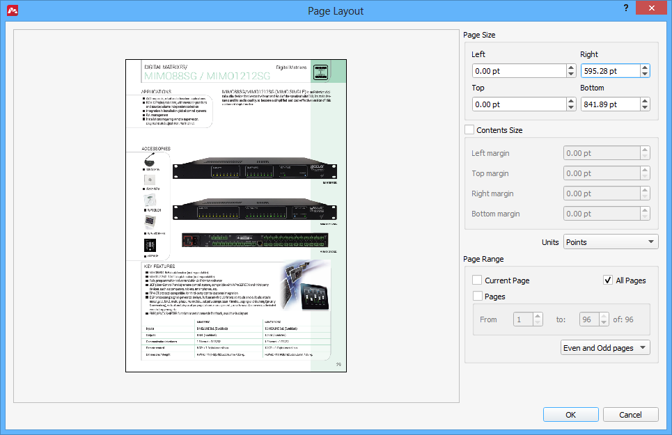 Editing Page Layout in PDF files