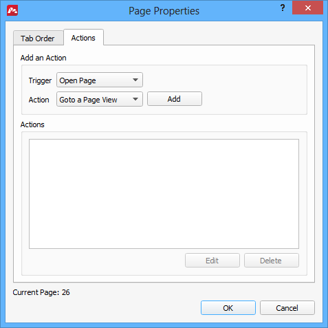 Assigning actions in PDF